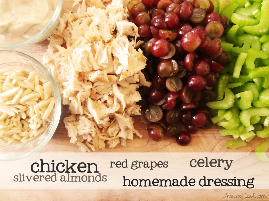 Chicken Salad With Grapes And Almonds Chicken salad with red grapes,