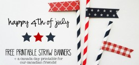 fourth of july (and canada day) :: free printable straw banners