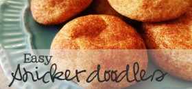 easy snickerdoodles cookie recipe