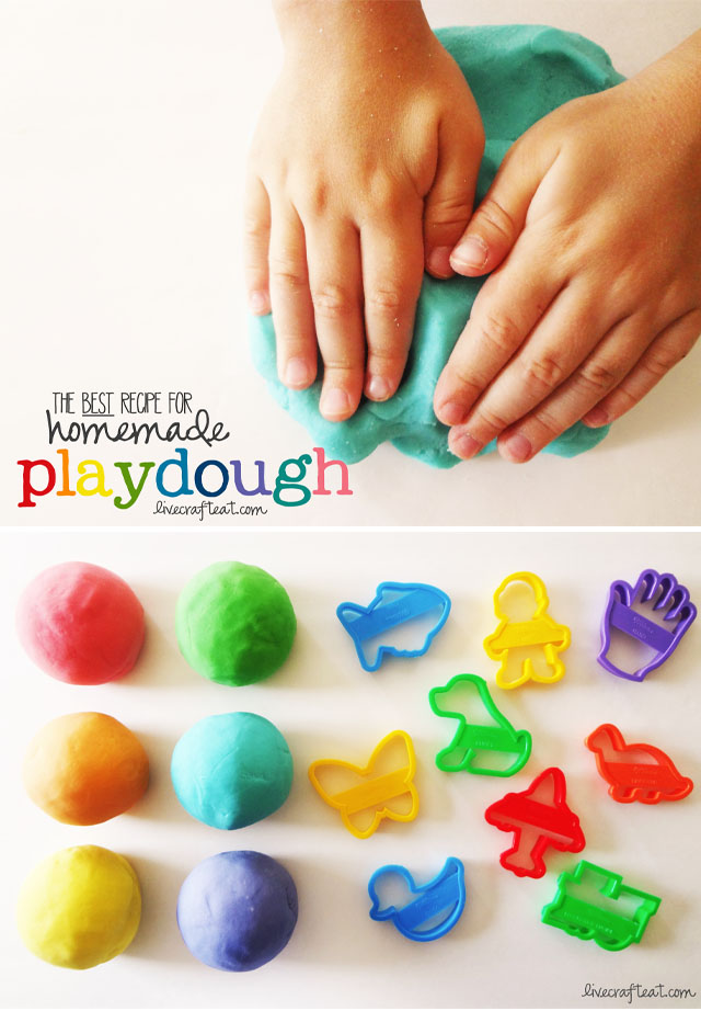 homemade no-cook play dough recipe