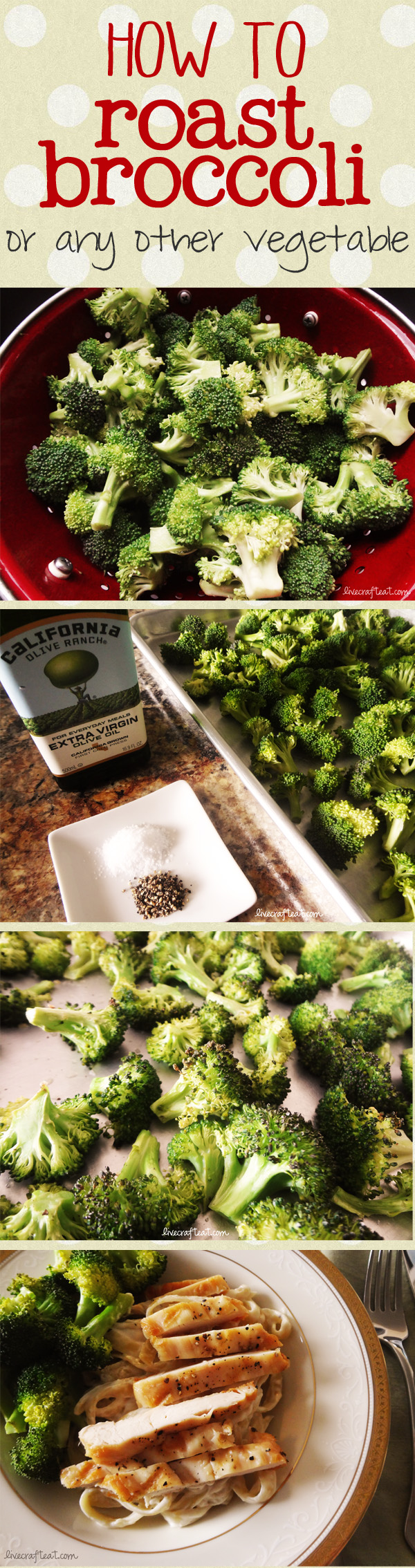 how to roast broccoli - by far my favorite way to eat it.