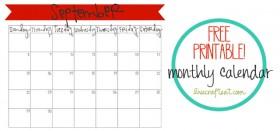 free printable calendar :: september 2013