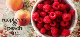 my new favorite :: raspberry peach freezer jam