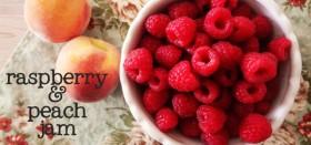 my new favorite :: raspberry peach freezer jam
