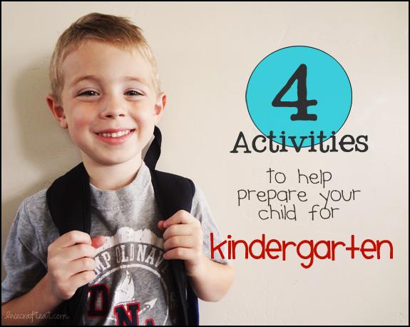4 activities to help prepare your child for kindergarten