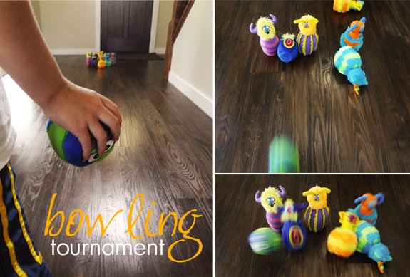 family game night - bowling tournament