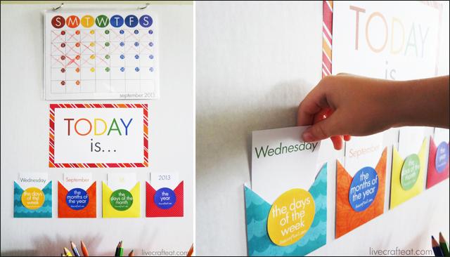 Diy Kids Calendar : Diy homework station for kids live craft eat