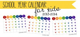 free printable school year calendar – for kids (or moms, too!)