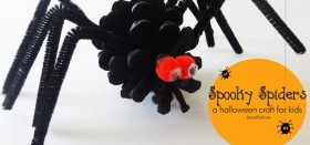 spooky spiders :: an easy halloween craft for kids