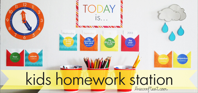 kids homework center