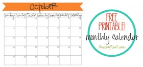 free printable calendar :: october 2013