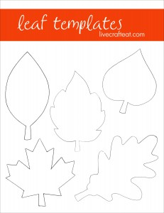 printable leaf patterns