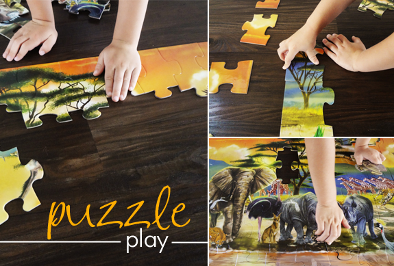 family game night - puzzle play