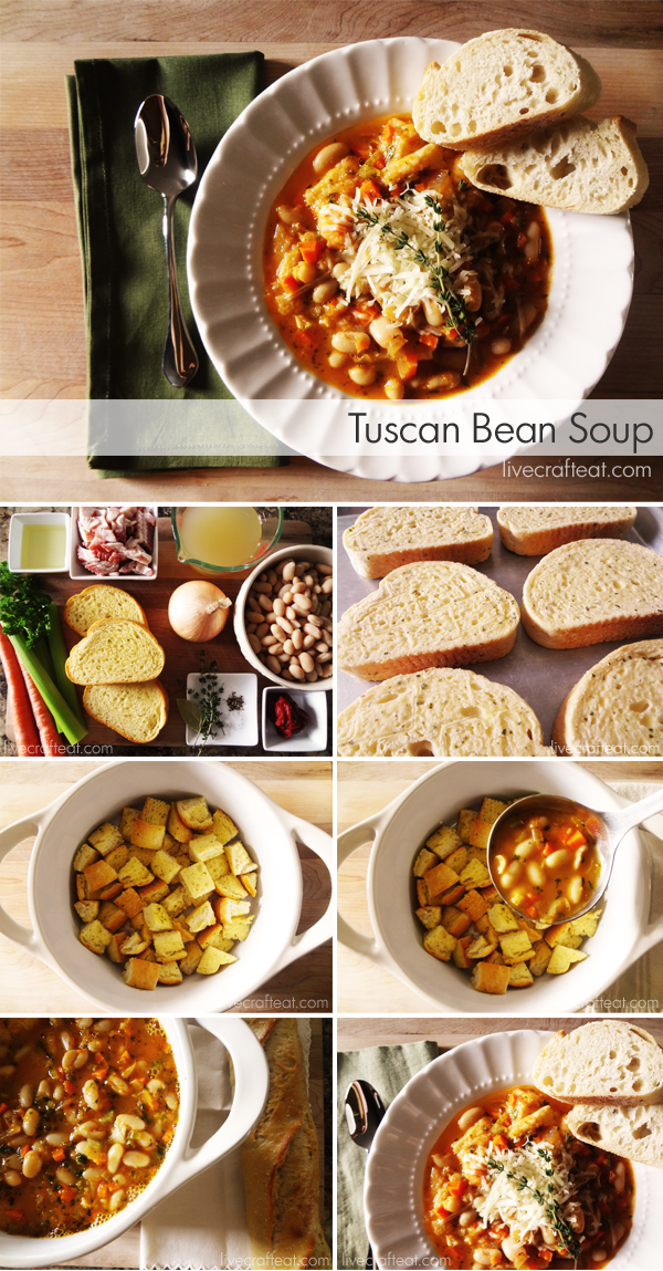 Homemade Tuscan Bean Soup - prefect for fall and winter. And it smells & tastes amazing!!