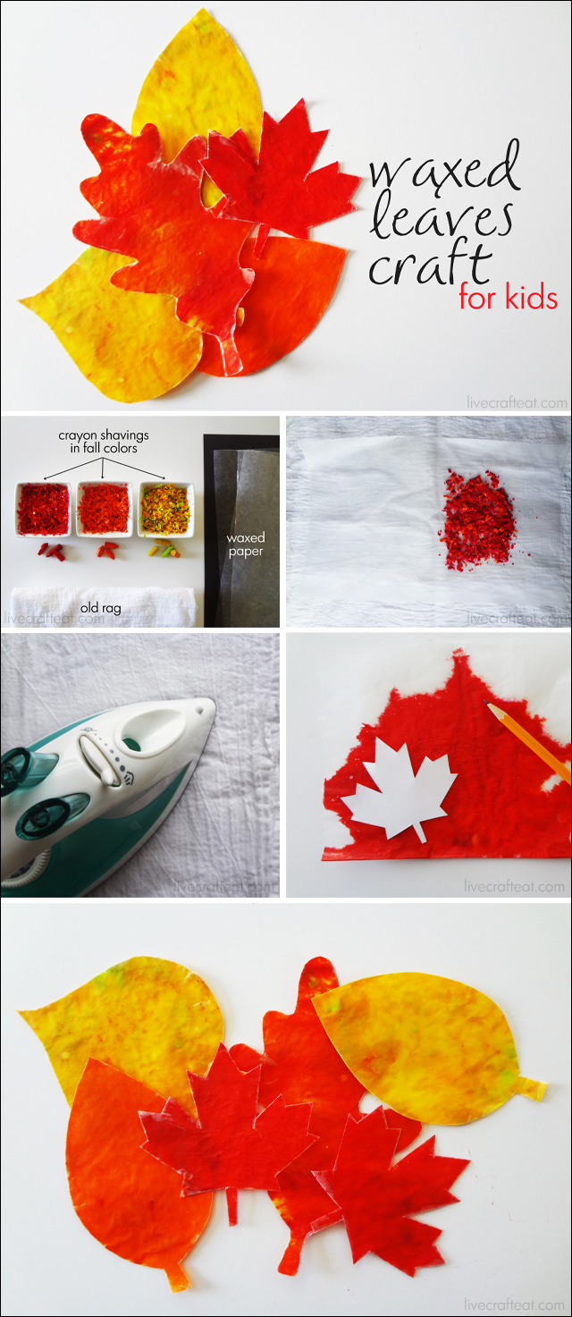 how to make wax crayon leaves