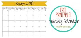 free printable calendar :: november 2013