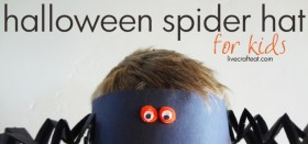 halloween spider hat :: halloween craft for kids