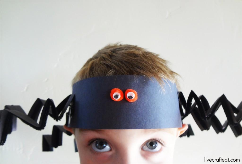 Halloween craft idea for kids spider hat live craft eat for Craft hats for kids