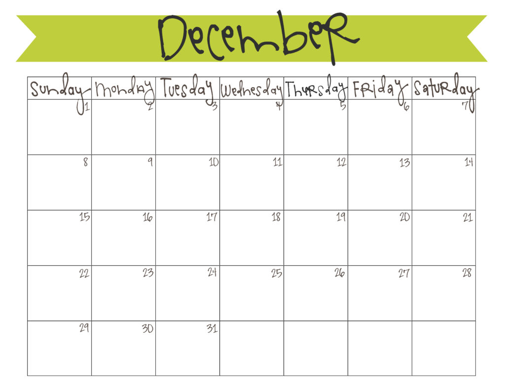 December 2013 Calendar - Free Printable | Live Craft Eat