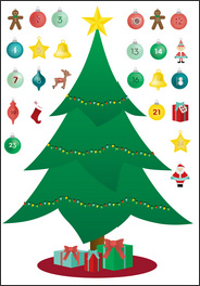 kids reusable christmas tree advent calendar