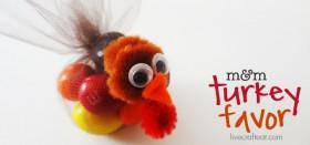 m&m turkey favors :: a thanksgiving turkey craft for kids