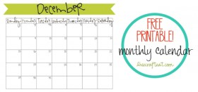 free printable calendar :: december 2013