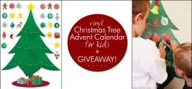 vinyl christmas advent calendar for kids :: giveaway!
