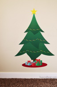 christmas tree advent for kids