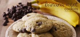 banana chip mint cookies