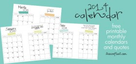 2014 monthly planner calendars :: free printables