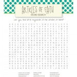 lds word searches for kids - free printable
