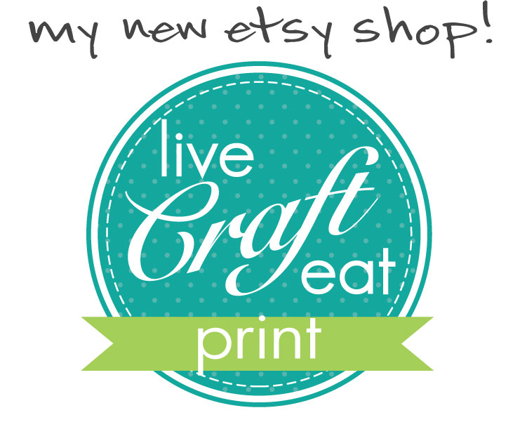 live craft eat print etsy shop