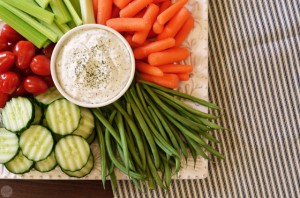 recipe for vegetable dill dip from six sisters' stuff (book review)