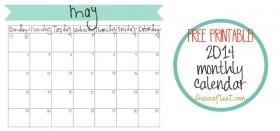 free printable calendar :: may 2014