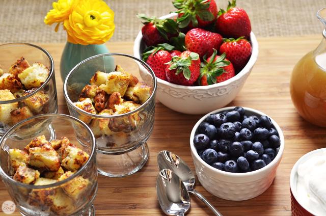 great breakfast idea :: cinnamon french toast trifle