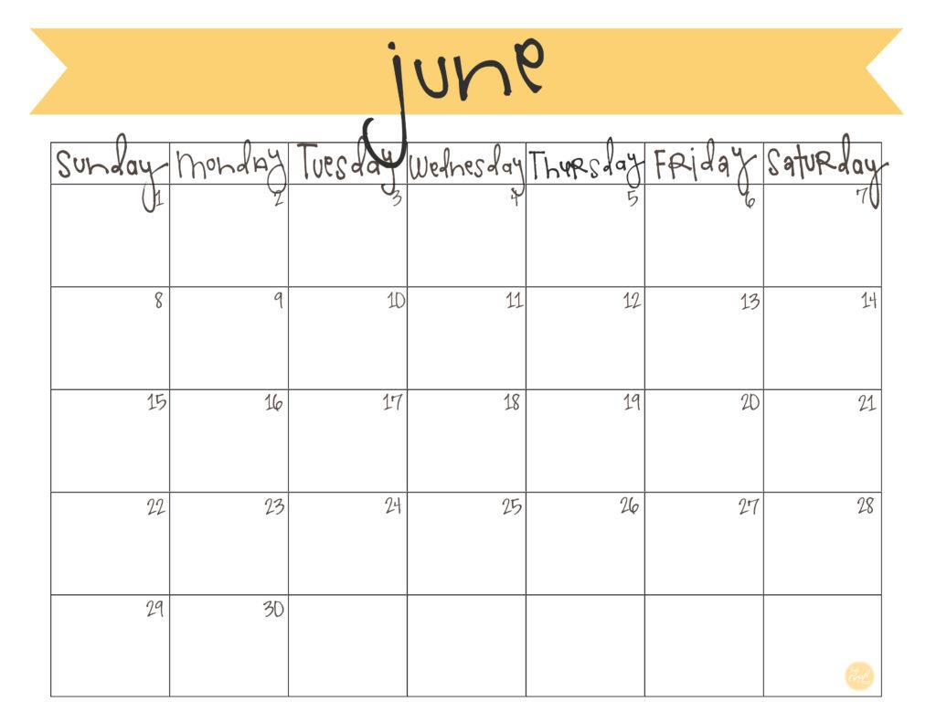 Calendar June 2014 : June calendar free printable live craft eat