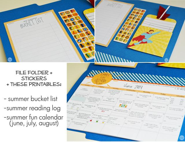 Weekly Reading Calendar : Summer activities for kids planner bucket list reading