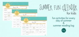 summer fun calendar for kids :: 2014