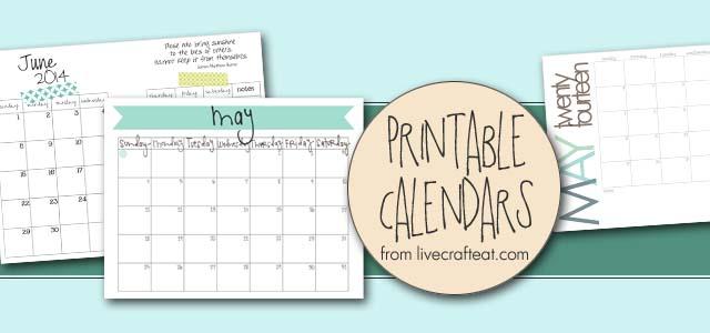 free calendars