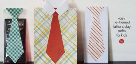 easy tie-themed father's day crafts for kids