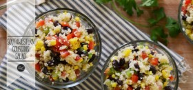 southwestern couscous salad :: with homemade dressing
