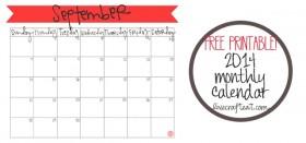 free printable calendar :: september 2014