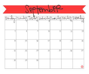 Free 2014 September Calendar