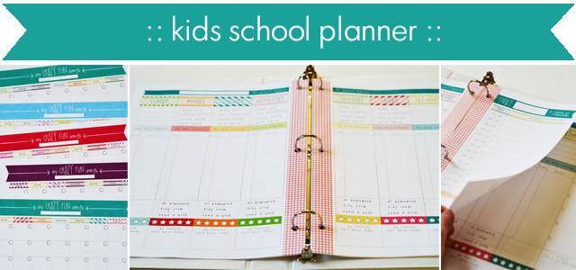 kids school planner