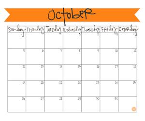 Free 2014 October Calendar