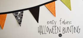easy holiday fabric bunting