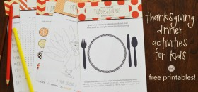free thanksgiving printable activities for kids