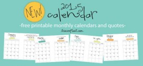 they're FINALLY here! free printable 2015 monthly planner pages