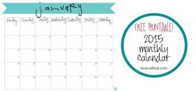 free printable calendar :: january 2015