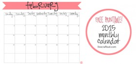 free printable calendar :: february 2015